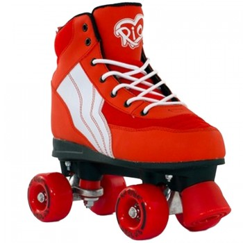 skates quad roller red